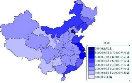 中国の所得分布